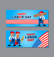 us labor day greetings banner vector image vector image