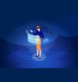 virtual reality isometric vector image