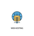 web hosting concept 2 colored line icon simple vector image