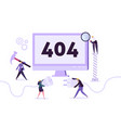 website under construction 404 page characters vector image