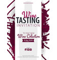 wine tasting template for promotions or vector image vector image