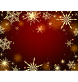 Winter red background vector image vector image
