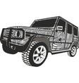 zebra offroad car vector image vector image