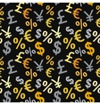 Money signs seamless pattern vector image