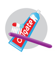 toothpaste toothbrush vector image