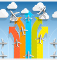 aircraft flights infographics vector image
