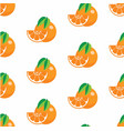 pattern with oranges vector image
