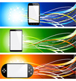 Smartphone banners vector image