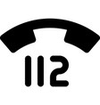 112 - emergency telephone number vector image vector image