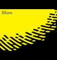 abstract stripe line of black on yellow background vector image vector image