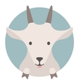 Animal set Portrait in flat graphics - Goat vector image