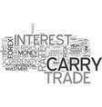 are there any risks with a carry trade text word