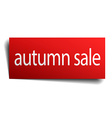 autumn sale red paper sign isolated on white vector image vector image
