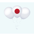 Balloons in as Japan National Flag vector image