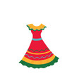 beautiful mexican dress isolated on white vector image