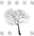 black tree hand drawn silhouette vector image vector image