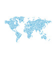 blue abstract dotted map of the world vector image vector image