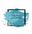 blue grunge brush paint texture design stroke post vector image vector image