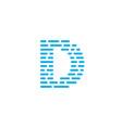 blue stripes logo letter d vector image
