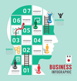 Business board game concept infographic vector image