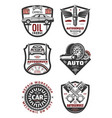 car repair shop and auto service vintage badges vector image vector image