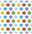 colorful eyes eye balls pattern vector image vector image