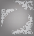Corner element ornate decorated baroque roccoco vector image vector image
