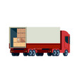 delivery cargo truck loading transport vector image