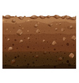 Different layers of soil vector image vector image