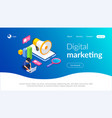 digital marketing isometric concept vector image