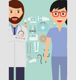doctor and nurse profession medical healthcare vector image vector image
