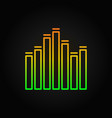 equalizer outline concept music icon or vector image