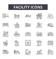 facility line icons for web and mobile design vector image vector image