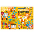 fast food online delivery service infographics vector image vector image