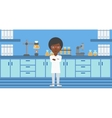 Female laboratory assistant vector image