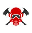 fire helmet logo vector image