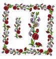 flower frame 3 380 vector image vector image