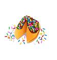 fortune cookies vector image