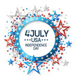 fourth july background with stars vector image vector image