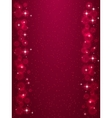 Frame with stars on the dark red background vector image vector image