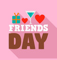 friends day logo flat style vector image vector image