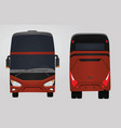 front and rear side of red bus vector image vector image