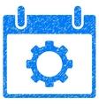 Gear Options Calendar Day Grainy Texture Icon vector image vector image