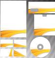 Golden wave border corporate mock-up set vector image vector image
