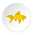 Goldfish icon flat style vector image