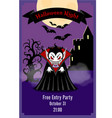 halloween party flyer with dracula vector image vector image