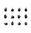 hand gestures icon palm fingers pointing holding vector image vector image
