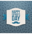 Happy Fathers Day paper Banner with blue Ribbon vector image vector image