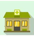 Hospital building icon flat style vector image