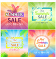 hot summer sale up to 70 off promotional banners vector image